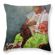 La Costurera Throw Pillow