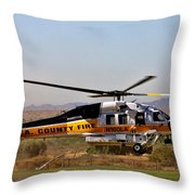 La County Fire Air Support Throw Pillow