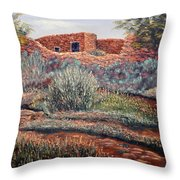 La Cueva New Mexico Throw Pillow