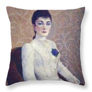 La Dame La Robe Blanche 1886 Throw Pillow