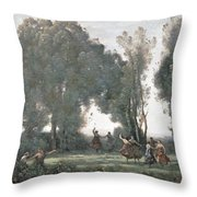 La Danse Des Nymphes Throw Pillow