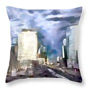 Paris La Defense Throw Pillow