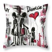 La Divorce  Throw Pillow