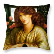 La Donna Della Finestra Throw Pillow