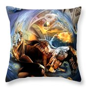 La Fable D'esope Throw Pillow