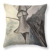 La Femme Au Parapluie Throw Pillow