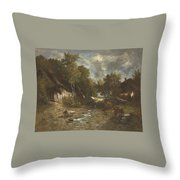 La Ferme Throw Pillow