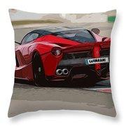 La Ferrari - Rear View Throw Pillow