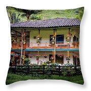 La Finca De Cafe - The Coffee Farm Throw Pillow