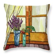 La Finestra Throw Pillow