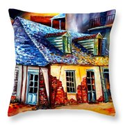 La Fittes Blacksmith Shop Throw Pillow