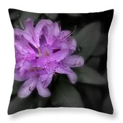 La Fleur Pourpre Throw Pillow