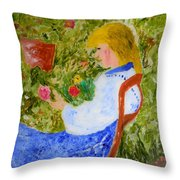 La Fleuriste Throw Pillow