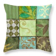 La Fleurs De La Terre II Throw Pillow