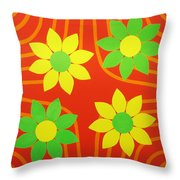 La Flor De La Vida Throw Pillow