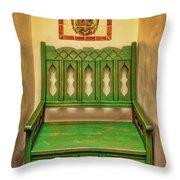 La Fonda Bench Throw Pillow