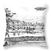 La France Airship, 1884 Throw Pillow