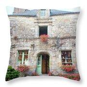 La Gacilly, Morbihan, Brittany, France, Shop Throw Pillow
