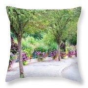 La Gacilly, Morbihan, Brittany, France, Streetscape Throw Pillow