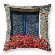 La Gacilly, Morbihan, Brittany, France, Window Throw Pillow