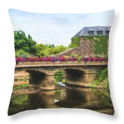 La Gacilly, River Aff, Brittany, France Throw Pillow