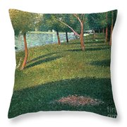 La Grande Jatte Throw Pillow