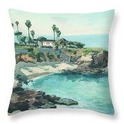 La Jolla Cove In December, La Jolla, San Diego, California Throw Pillow