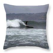 La Jolla Cove Surf Throw Pillow