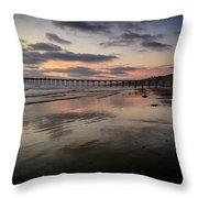 La Jolla Pier Throw Pillow