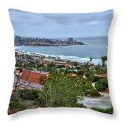 La Jolla Shoreline Throw Pillow