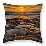 La Jolla Tidepools Throw Pillow by Peter Tellone