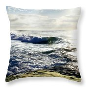 La Jolla Towards Casa Cove Throw Pillow