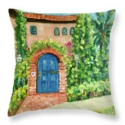 La Jolla Villa Throw Pillow