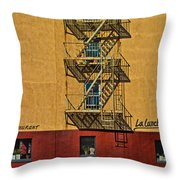 La Lunchonette Throw Pillow