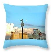 La Lune L'oiseau L'usine Throw Pillow