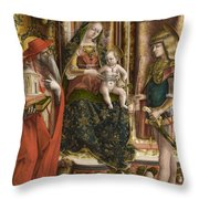 La Madonna Della Rondine The Madonna Of The Swallow Throw Pillow