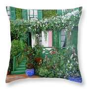 La Maison De Claude Monet Throw Pillow