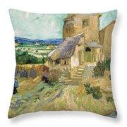 La Maison De La Crau The Old Mill Throw Pillow