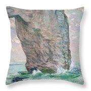 La Manneporte A Etretat Throw Pillow by Claude Monet