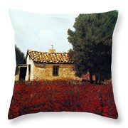 La Masseria Tra I Papaveri Throw Pillow