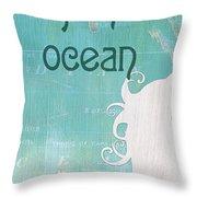 La Mer Mermaid 1 Throw Pillow