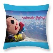 La Mexicanita Flying Throw Pillow