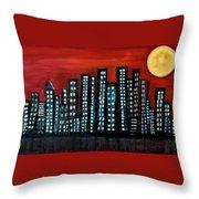 L.a. Moon Throw Pillow