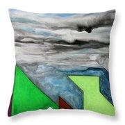 La Notte Sopra La Citta Verde - Part II Throw Pillow