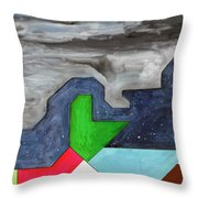 La Notte Sopra La Citta Verde - Part IIi Throw Pillow