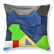 La Notte Sopra La Citta Verde - Part Iv Throw Pillow