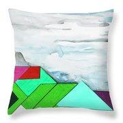 La Notte Sopra La Citta Verde Throw Pillow