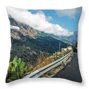 La Palma - Barranco De Las Angustias Throw Pillow