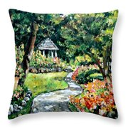 La Paloma Gardens Throw Pillow
