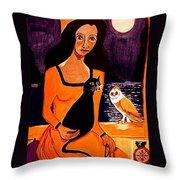 La Papesse Throw Pillow